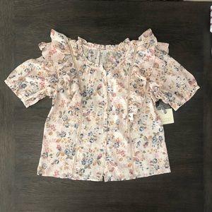 ⚜️Hinge Ruffled Vintage Blouse
